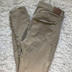 Pants - AE Khaki Jeggings
